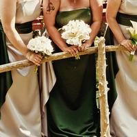 Ceremony, Flowers & Decor, Bridesmaids, Bridesmaids Dresses, Wedding Dresses, Fashion, white, green, silver, dress, Ceremony Flowers, Bridesmaid Bouquets, Flowers, Flower Wedding Dresses