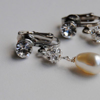 Jewelry, Earrings, Pearl, Etsy, Blustarfruit