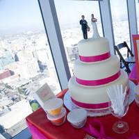Reception, Flowers & Decor, Cakes, orange, pink, cake