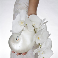 Flowers & Decor, white, Bride Bouquets, Bridesmaid Bouquets, Flowers, Bouquet, Shell, Bridesmaid, Nautilus