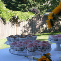 Flowers & Decor, Cakes, white, yellow, pink, brown, cake, Flowers, Birds, Cake stand, Mason jar