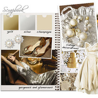 silver, gold, Inspiration board
