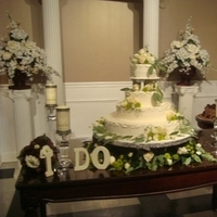 Reception, Flowers & Decor, Cakes, green, brown, cake, Flowers