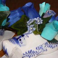 Reception, Flowers & Decor, white, blue, Centerpieces, Centerpiece