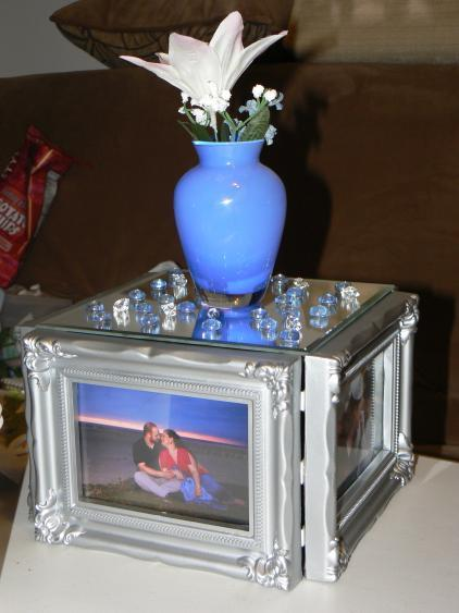 Reception, Flowers & Decor, white, blue, Centerpieces, Centerpiece