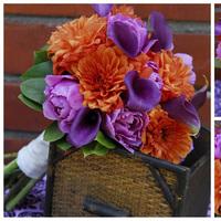 Flowers & Decor, orange, purple, green, Flowers