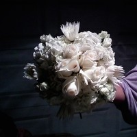 Ceremony, Flowers & Decor, white, blue, silver, Ceremony Flowers, Flowers, Wedding bouquet