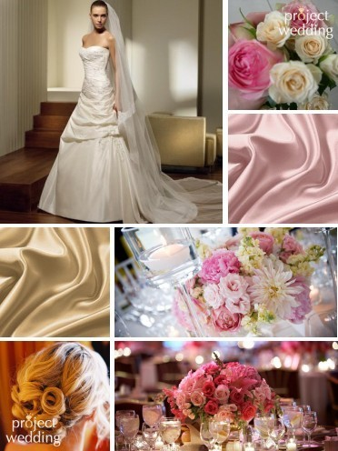 Beauty, Flowers & Decor, Wedding Dresses, Fashion, pink, dress, Flowers, Hair, Inspiration board, Flower Wedding Dresses