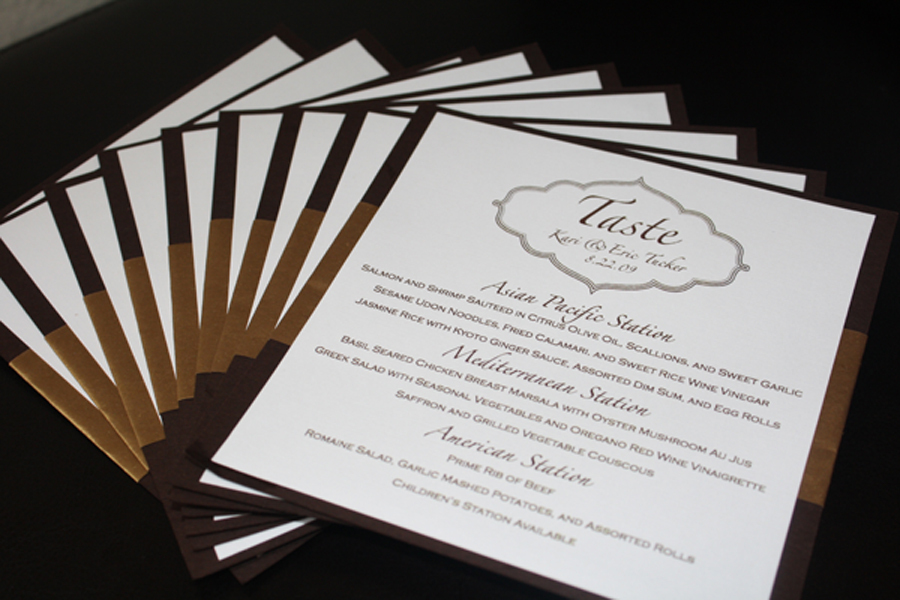 Inspiration, Stationery, brown, gold, Invitations, Menu, Cards, Board