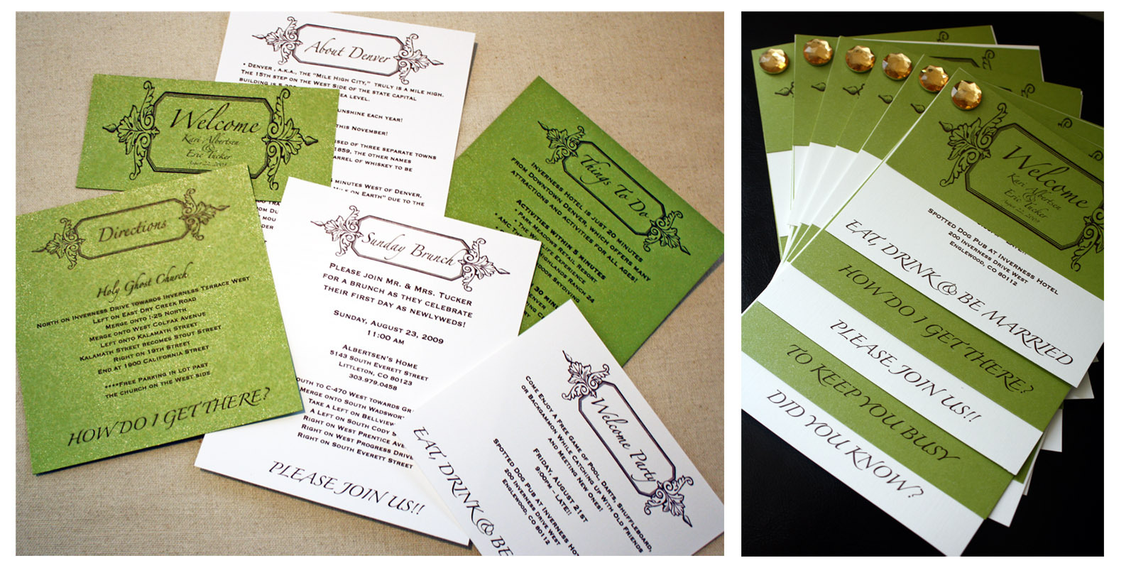 Reception, Flowers & Decor, Bridesmaids, Bridesmaids Dresses, Stationery, Fashion, green, brown, black, Invitations, Inspiration board