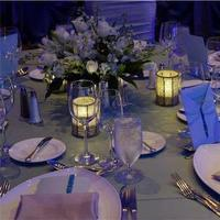 Reception, Flowers & Decor, white, purple, blue, Table, Settings