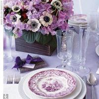 Reception, Flowers & Decor, purple, Centerpieces, Centerpiece, Table, Setting