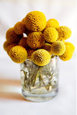 Flowers & Decor, yellow, Centerpieces, Flowers, Craspedia