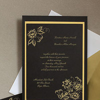 Stationery, white, brown, black, Invitations, Floral, Old, Fashioned