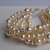 Jewelry, Bracelets, Bridesmaid, Crystal, Bracelet, Pearl, Sparkly