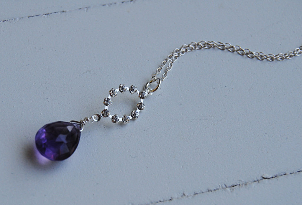 purple, Bridesmaid, Crystal, Necklace, Blustarfruit