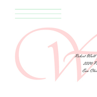 Stationery, white, pink, green, black, Invitations