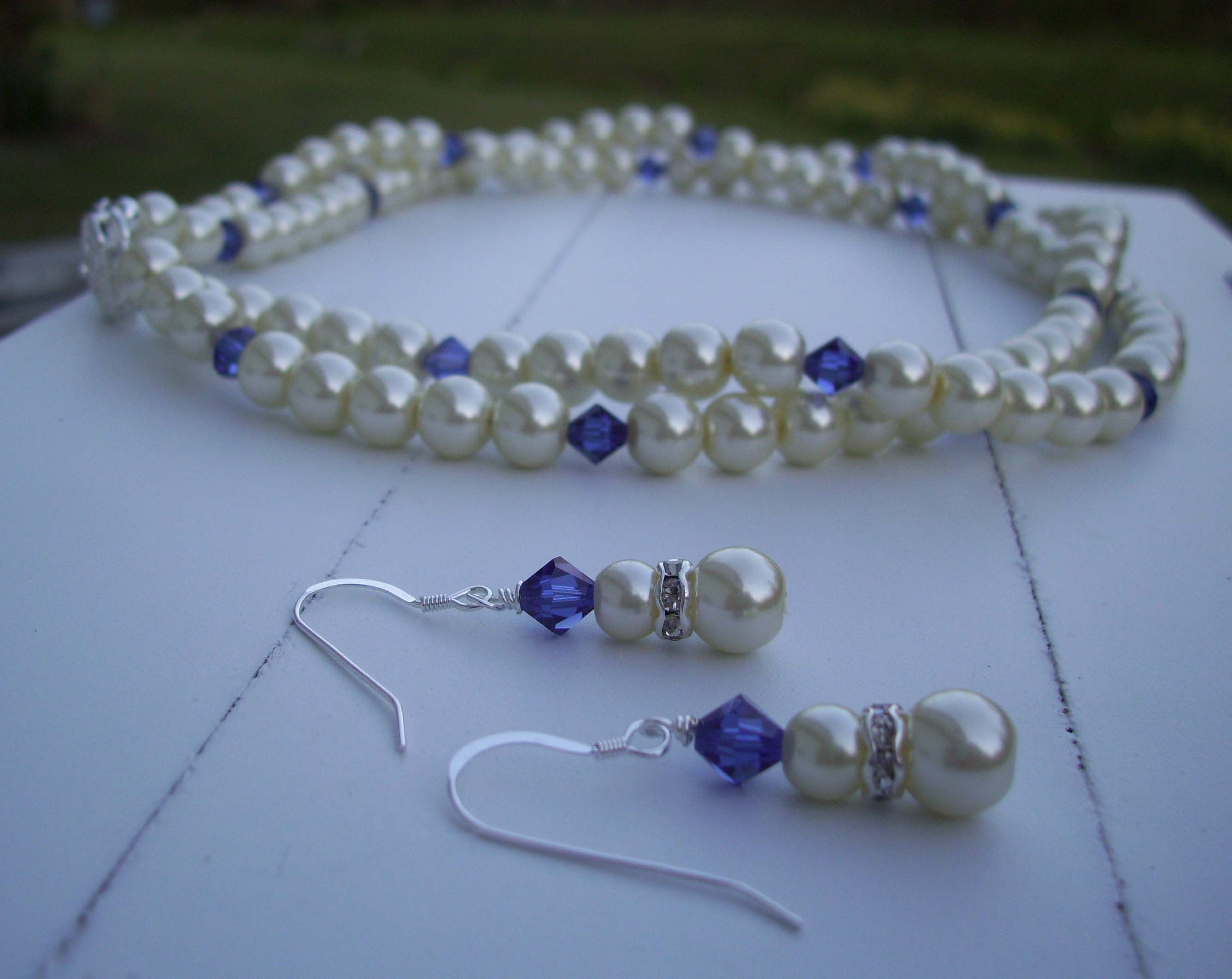 Jewelry, Necklaces, Bridesmaid, And, Crystal, Necklace, Set, Pearl, Blustarfruit