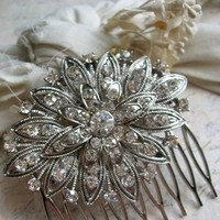 Beauty, silver, Comb, Hair, Bridal, Sparkle, Rhinestones, Mykonos