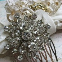 Beauty, Flowers & Decor, Jewelry, Bridesmaids, Bridesmaids Dresses, Wedding Dresses, Fashion, silver, dress, Comb, Bridesmaid Bouquets, Flowers, Flower, Gift, Hair, Bridal, Weddings, Sparkle, Hollywood, Rhinestones, Glamours, Flower Wedding Dresses