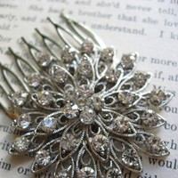 Beauty, Flowers & Decor, Jewelry, Bridesmaids, Bridesmaids Dresses, Fashion, silver, Comb, Bridesmaid Bouquets, Accessories, Flowers, Hair, Bridal, Sparkle, Rhinestones, Glamours, Flower Wedding Dresses
