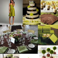 Reception, Flowers & Decor, green, brown