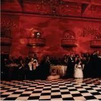 Ceremony, Reception, Flowers & Decor, white, red, black, Dance, And, Floor, Checkered