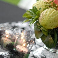Reception, Flowers & Decor, white, green, black, Centerpieces, Flowers, Centerpiece, Runners