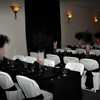 Ceremony, Reception, Flowers & Decor, white, red, black, Ceremony Flowers, Flowers, Draping, Crystal, Balls