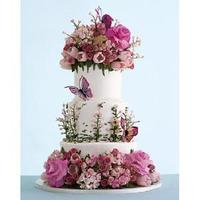 Reception, Flowers & Decor, Cakes, pink, cake