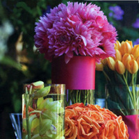 Ceremony, Reception, Flowers & Decor, yellow, orange, pink, green, Ceremony Flowers, Flowers