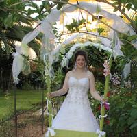 Beauty, Wedding Dresses, Fashion, white, green, dress, Hair