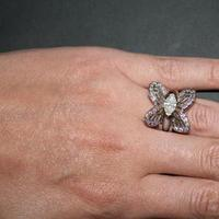 Jewelry, purple, Engagement Rings, Ring, Butterfly, E