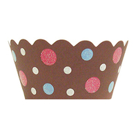 Cakes, pink, blue, brown, cake