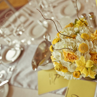Reception, Flowers & Decor, white, yellow, silver, Flowers, Inspiration board