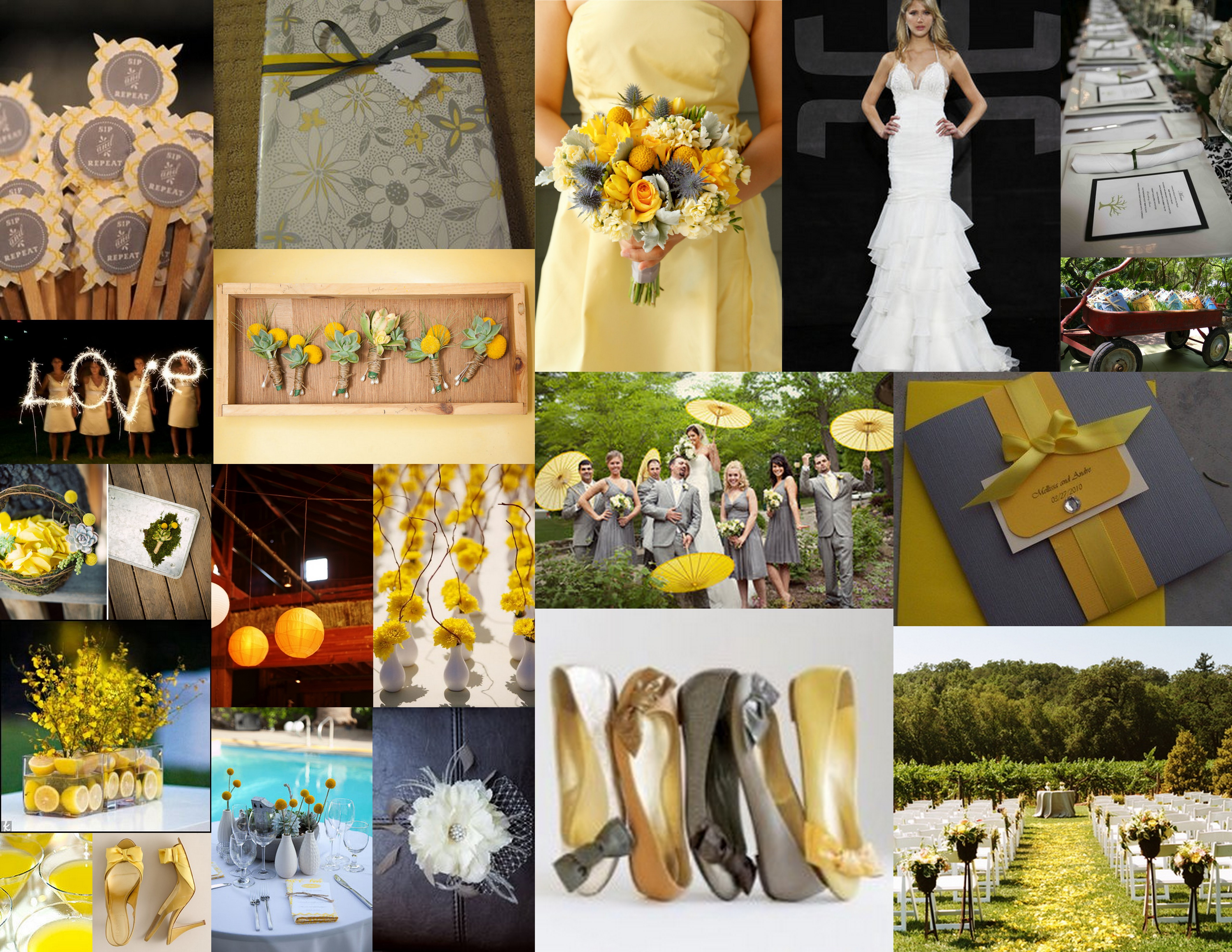 yellow, Grey, Inspiration board