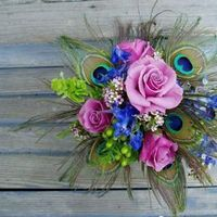 Flowers & Decor, pink, purple, blue, green, Flowers