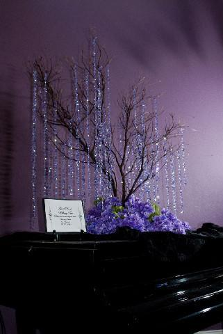 Reception, Flowers & Decor, purple, green, brown, black, silver, Flowers, Branches, Tree, Club, Inspiration board, Lights, Country, Manzanita, Wishing, Bling