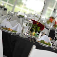 Reception, Flowers & Decor, white, green, black, Tent