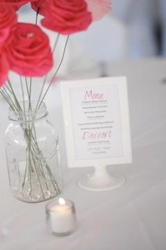 Centerpiece, Menu, Card