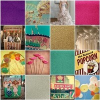 pink, purple, silver, gold, Inspiration board