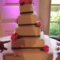 Reception, Flowers & Decor, Jewelry, Cakes, white, pink, green, cake, Flowers