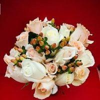 Flowers & Decor, white, Bride Bouquets, Flowers, Roses, Bouquet, Peach