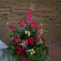 Ceremony, Flowers & Decor, pink, green, silver, Ceremony Flowers, Flowers