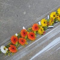 Ceremony, Flowers & Decor, white, yellow, orange, Ceremony Flowers, Flowers