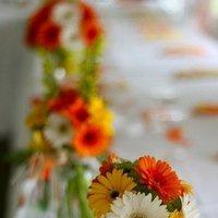 Reception, Flowers & Decor, white, yellow, orange, Flowers