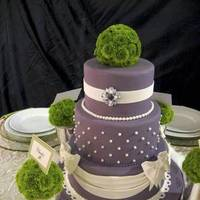 Beauty, Cakes, white, purple, green, cake, Feathers, Centerpiece, Lavender