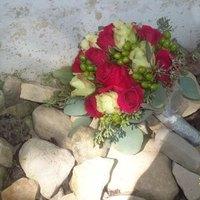Ceremony, Flowers & Decor, Bridesmaids, Bridesmaids Dresses, Fashion, pink, green, silver, Ceremony Flowers, Bridesmaid Bouquets, Flowers, Flower Wedding Dresses