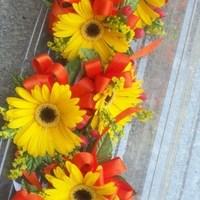 Ceremony, Flowers & Decor, white, yellow, orange, Ceremony Flowers, Flowers