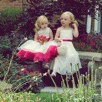Flowers & Decor, white, orange, pink, green, Flowers